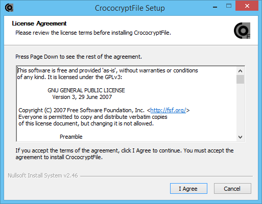 CrococryptFile Setup by HissenIT